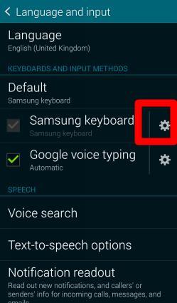 How to use Galaxy S5 Samsung keyboard?