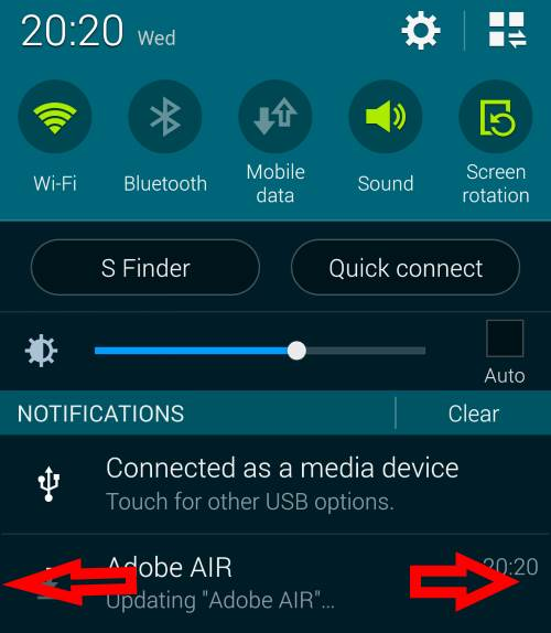 how_to_access_and_use_Galaxy_S5_notification_panel_discard_individual_notification