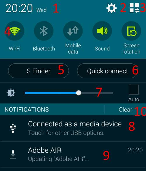 how_to_access_and_use_Galaxy_S5_notification_panel_navigation