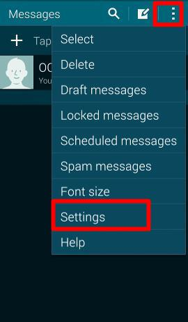 samsung galaxy s5 how to change voicemail message