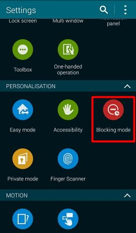 How_to_silence_Galaxy_S5_blocking_mode_setting