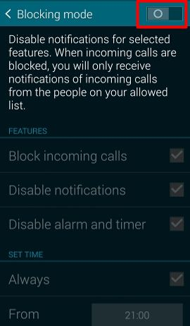 How_to_silence_Galaxy_S5_enable_blocking_mode
