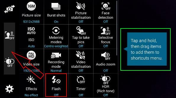 how_to_customize_Galaxy_s5_camera_shortcuts_2_adding_flash_settings