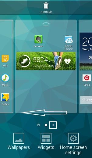 how_to_manage_Galaxy_s5_home_screen_panels_pages_12_flicking_left