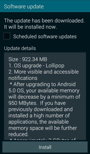 Samsung Galaxy S5 Android Lollipop Update Guide - Samsung